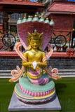 Het heilige standbeeld van Boedha in Nepal, Katmandu royalty-vrije stock afbeelding