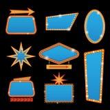 Het helder vectorcasino of theater gloeiende retro teken van het bioskoopneon vector illustratie