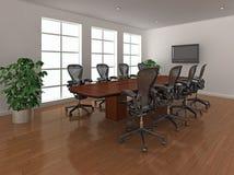 Het heldere binnenland van de vergaderingsruimte Stock Foto's