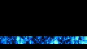 Het heldere blauwe vierkante patroon vermindert derden vector illustratie