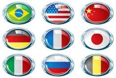 Het heldere deel van de chroom ovale vlag  Royalty-vrije Stock Foto's