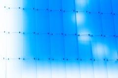 Het heldere gekleurde blauwe glasscherm Stock Afbeelding