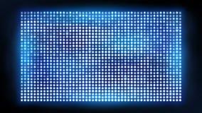 Het heldere geleide projectiescherm Bioskoop en vermaak vectorvertoning vector illustratie