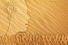 Het heldere idee van de Dans van het zand Royalty-vrije Stock Afbeeldingen