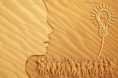 Het heldere idee van de Dans van het zand Stock Afbeeldingen