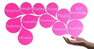Het helen van hand met roze helende energie royalty-vrije illustratie