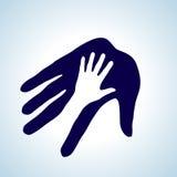 Het helpen van hand. Stock Foto's
