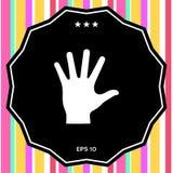 Het helpen van het pictogram van het handsilhouet Royalty-vrije Stock Afbeelding