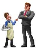 Het helpen van werkgever vector illustratie