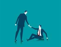 Het helpen van zaken of een persoon in behoeftehulp Concepten bedrijfsillu Stock Fotografie