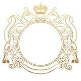 Het heraldische frame van de luxe royalty-vrije illustratie