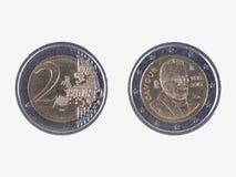 Het herdenkings 2 EUR muntstuk van Camillo Benso Stock Foto