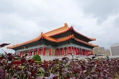 Het Herdenkings, Nationale Theater en Nationaal Overleg Hall Taipei, Taiwan van Chiang Kai-shek Stock Foto's