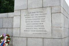 Het Herdenkingscitaat van WO.II door President Harry Truman stock foto
