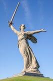 Het herdenkingscomplex op Mamayev Kurgan in Volgograd, beeldhouwer Yevgeny Vucetic stock afbeeldingen