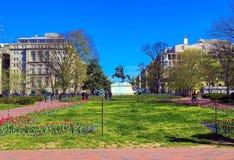 HET HERDENKINGSlafayette PARK VAN ANDREW JACKSON, WASHINGTON DC royalty-vrije stock afbeeldingen