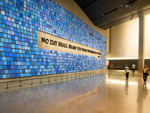 Het 9/11 Herdenkingsmuseum in de Stad van New York Stock Foto