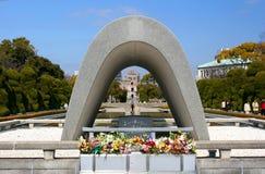 Het herdenkingspark van de vrede in Hiroshima stock foto's