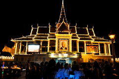Het herdenkingsportret van Norodom Sihanouk van de koning Stock Afbeelding
