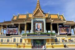 Het herdenkingsportret van Norodom Sihanouk van de koning Stock Afbeeldingen
