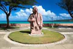 Het herdenkingsstandbeeld van Colombo van Christoforo, Baracoa stock foto