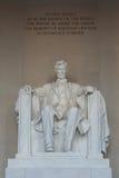 Het herdenkingsstandbeeld van Lincoln Stock Foto