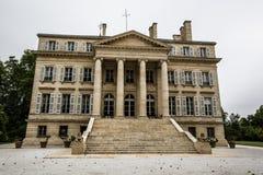Het herenhuis van de Chateau margaux wijnmakerij, Bordeaux, Frankrijk Stock Afbeelding