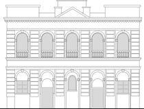 Het herenhuis van de erfenis de bouwhuis stock illustratie