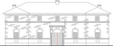 Het herenhuis van de erfenis de bouwhuis royalty-vrije illustratie