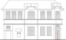 Het herenhuis van de erfenis de bouwvoorzijde vector illustratie