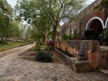 Het herenhuis van de vriendelijke oude edelman in Mexico Royalty-vrije Stock Foto's