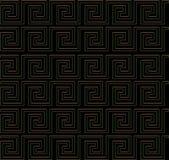 Het herhalen van labyrint zoals ontwerp gouden rand Stock Afbeelding