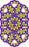 Het herhalen van patroon in regenboogkleuren Stock Afbeelding