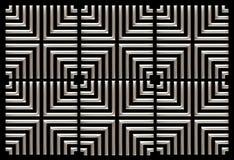 Het herhalen van vierkant chroom als achtergrond op zwarte vector illustratie