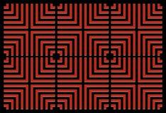 Het herhalen van vierkant rood als achtergrond vector illustratie