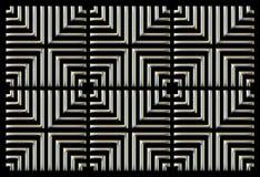 Het herhalen van vierkant zilver als achtergrond op zwarte vector illustratie