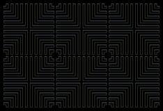 Het herhalen van vierkante zwarte als achtergrond vector illustratie