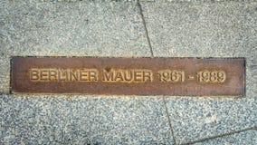 Het herinneren van Berlin Wall Royalty-vrije Stock Afbeeldingen