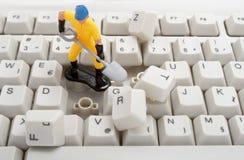 Het herstellen van de computer Stock Foto's