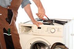 Het herstellen van een foutenwasmachine Stock Afbeelding