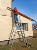 Het herstellen van huis stock foto