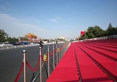 Het herzien van tribune in Peking voor 60ste Nationale Dag Royalty-vrije Stock Foto