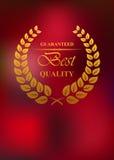 Het het beste etiket of embleem van het kwaliteitsproduct Stock Foto's