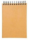 Het het bruine boek of notitieboekje van het ringsbindmiddel Stock Afbeelding