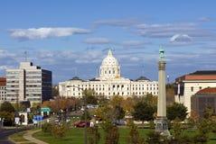 Het het Capitoolgebouw van de Staat van Minnesota, Saint Paul, Minnesota, de V.S. Stock Afbeeldingen