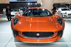 Het het conceptenvoertuig van Jaguar c-X75 vormt de Spookfilm Royalty-vrije Stock Afbeeldingen