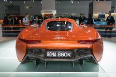 Het het conceptenvoertuig van Jaguar c-X75 vormt de Spookfilm Stock Afbeelding