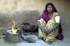 Het het dorpsleven 2 van Rajasthani Stock Fotografie