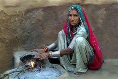 Het het dorpsleven 3 van Rajasthani Stock Fotografie