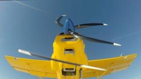 Het het gele begin/einde van de vliegtuigmotor stock videobeelden
